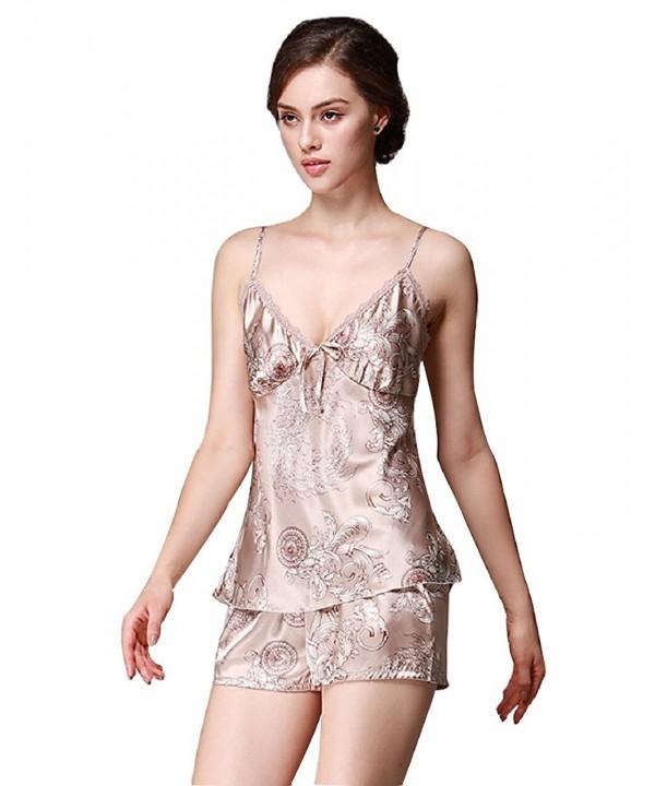 SexyTown Womens Enchanting Sleepwear Style1 Camel