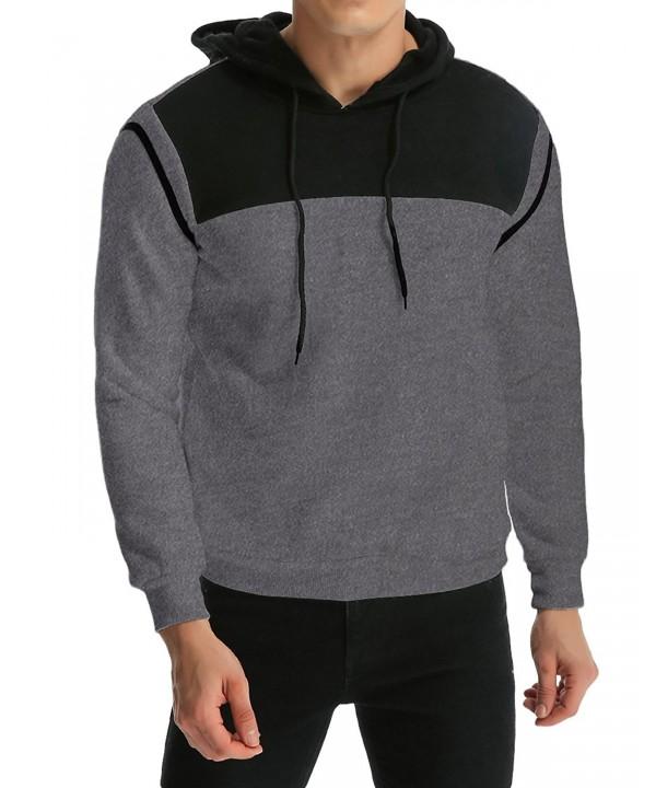 MODCHOK Hoodies Contrast Pullover Sweatshirts