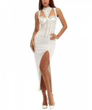 Curve Womens Studded Stretch Bodycon