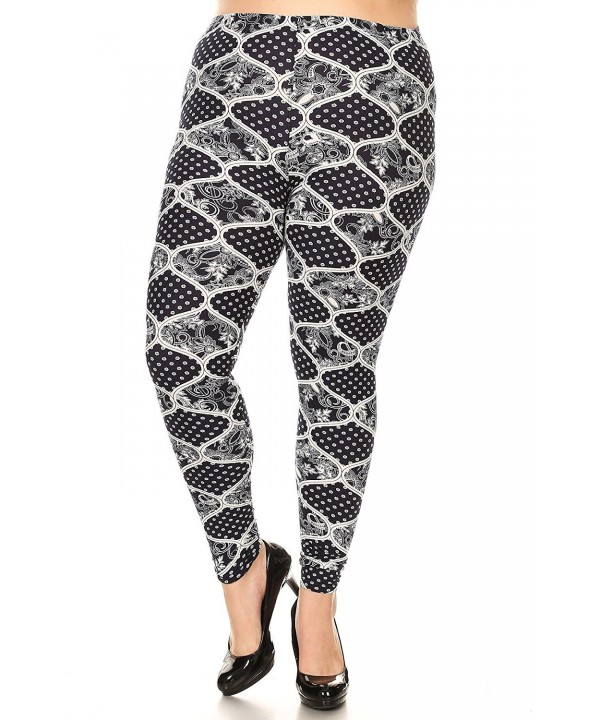 Womens Plus Legging Tapestry Print