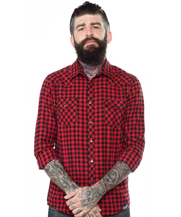 Kustom Kreeps Western Shirt Red