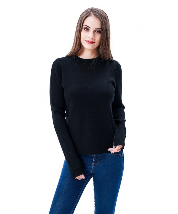 MEEFUR Pullover Stretchy Knitwear Sweaters