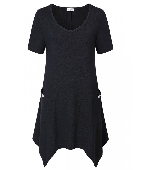 Bulotus Casual Womens V Neck Asymmetrical