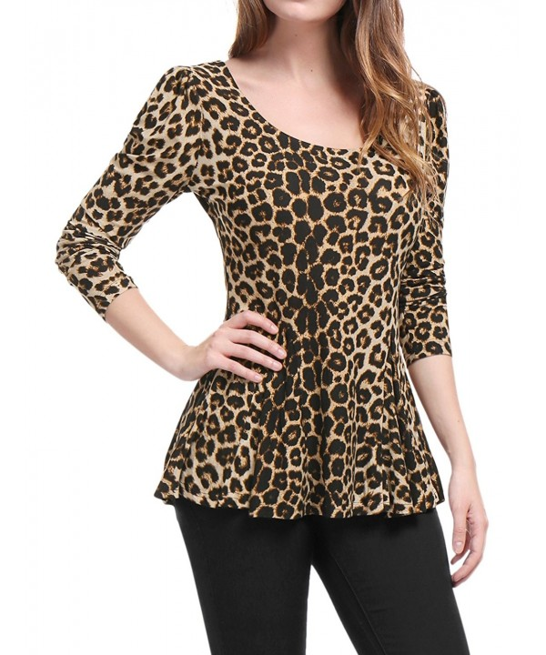 Allegra Ladies Leopard Prints Sleeves