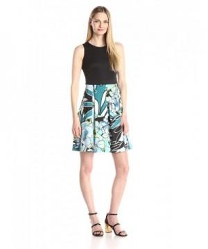 Gabby Skye Womens Sleeveless Turquoise
