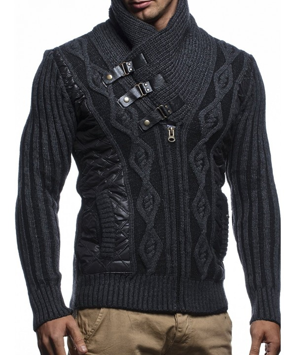 Leif Nelson Turtle Pullover Anthracite Black