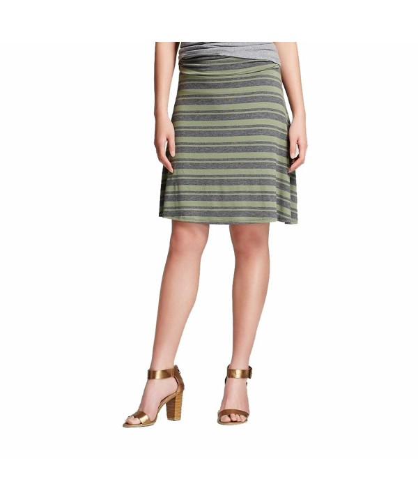 Womens Line Skirt Trendy Comfy Striped