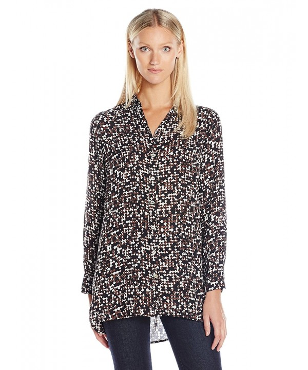 Foxcroft Womens Sleeve Blurred Print