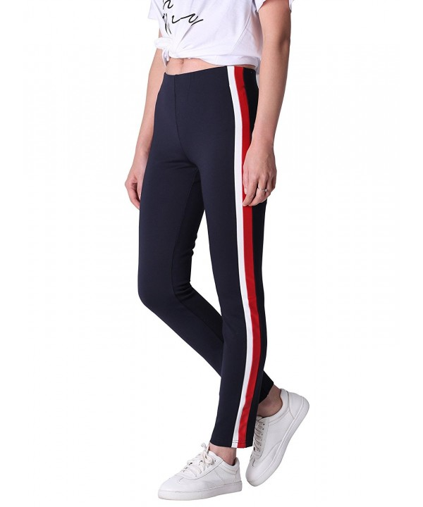 Sunview Casual Contrast Leather Leggings