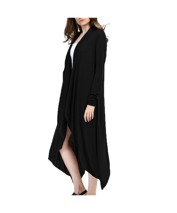 Lusiyu Womens Sleeve Waterfall Cardigan