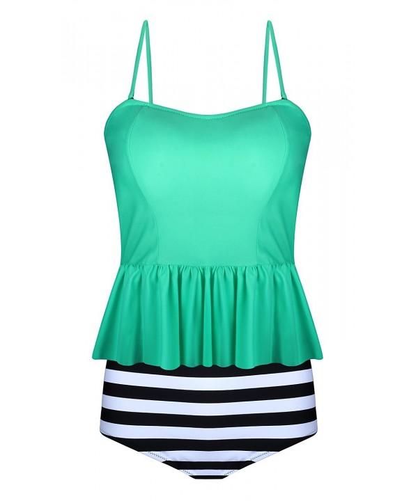 EasyMy Womens Waisted Swimsuits Peplum
