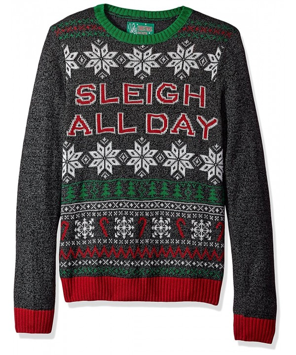 Ugly Christmas Sweater Sleigh Black