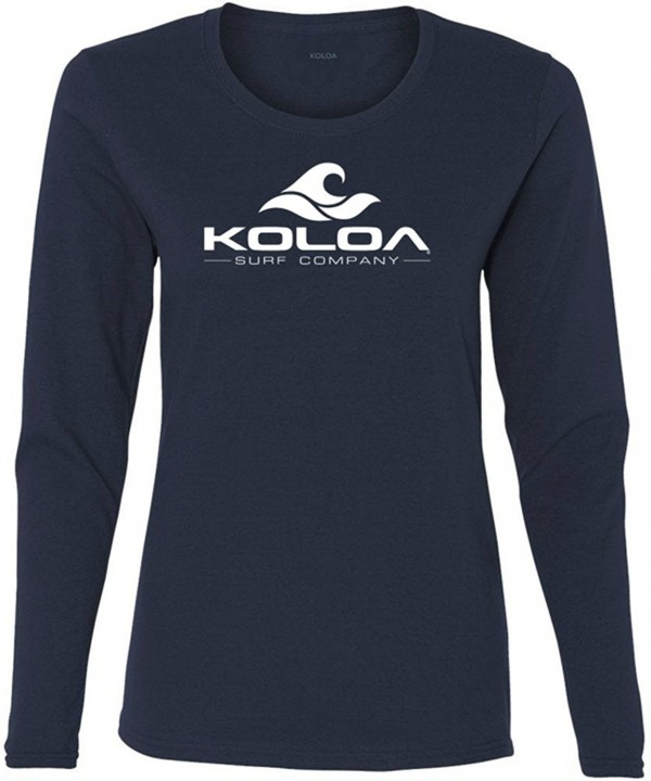 Koloa Womens Cotton Sleeve T Shirt M Navy