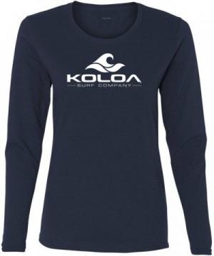 Koloa Womens Cotton Sleeve T Shirt M Navy