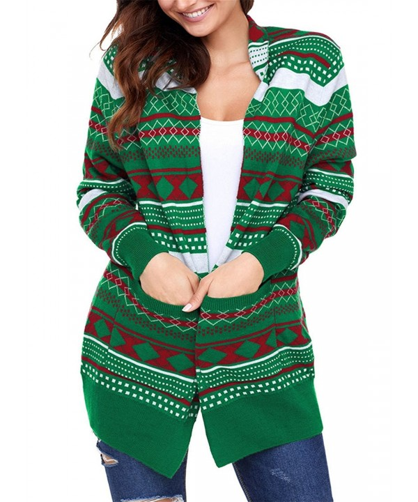 Dokotoo Christmas Knitting Cardigans Pullover