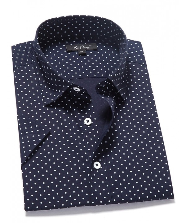 XI PENG Casual Cotton Dot Navy