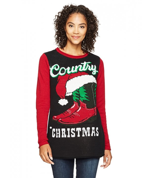 Ugly Christmas Sweater Women S Country Xmas Black Cv18690t8uc