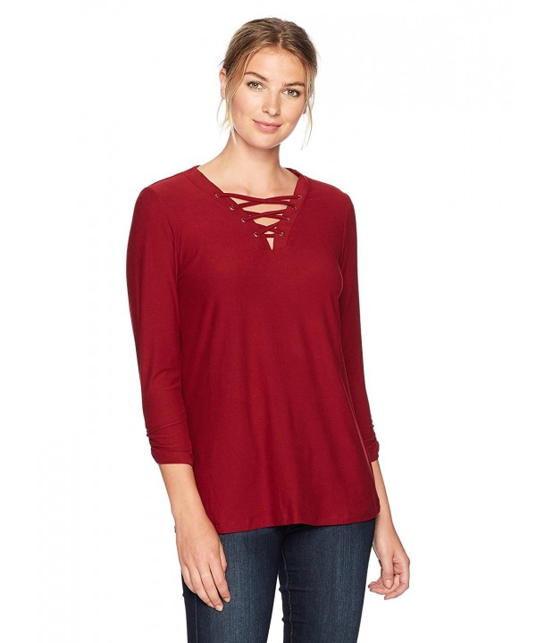 Allison Brittney Womens Shirred Sleeve