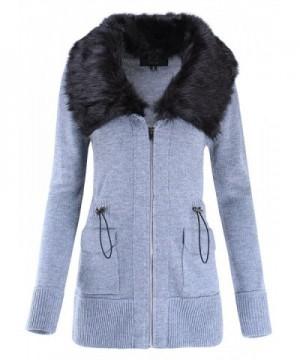 Detachable Neckline Collar Sweater Jacket