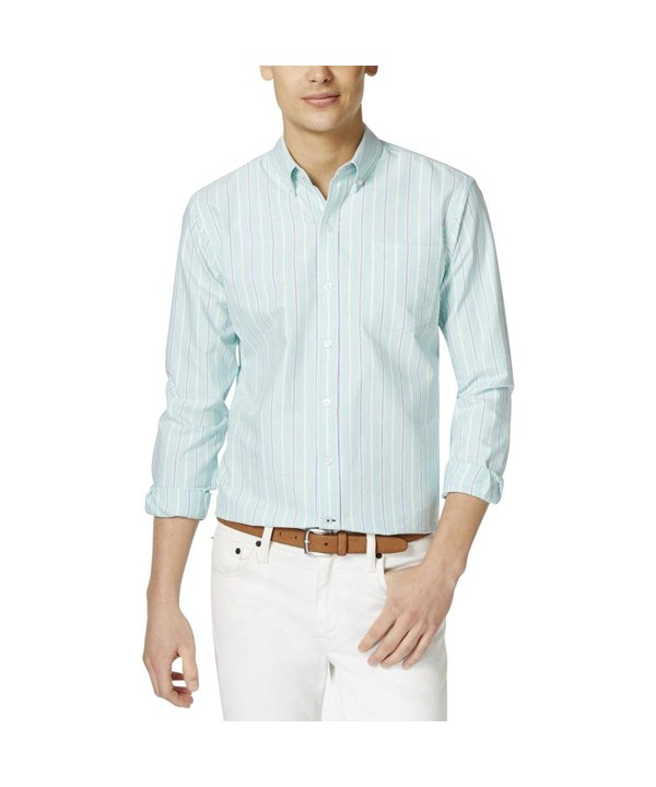 Club Room Cotton Striped Button Down