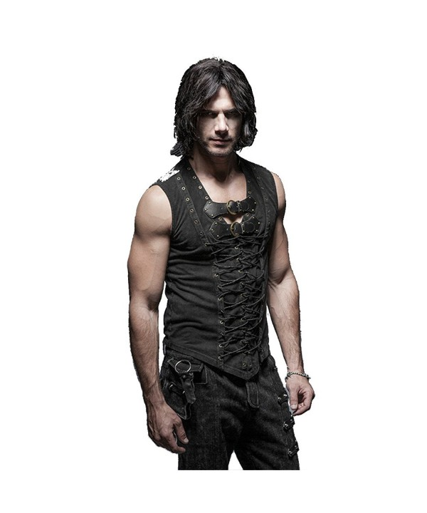 Cotton Leather Sleeveless T shirt Bandage