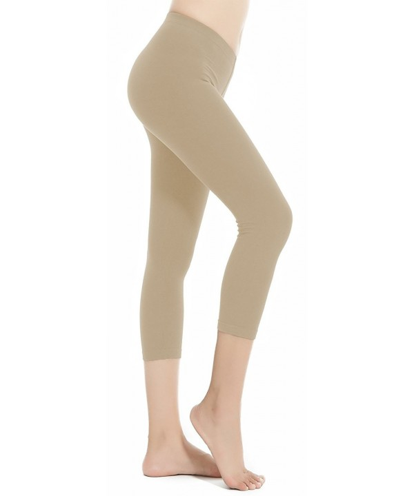Aenlley Womens Spandex Capris Leggings