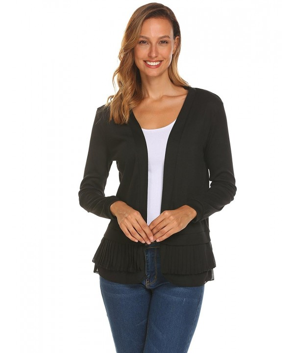 ELESOL Womens Sleeve Lightweight Cardigan