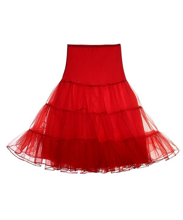 Mefezi Womens Petticoat Vintage Underskirt