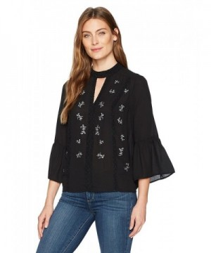 Ivanka Trump Womens Embroidered Blouse