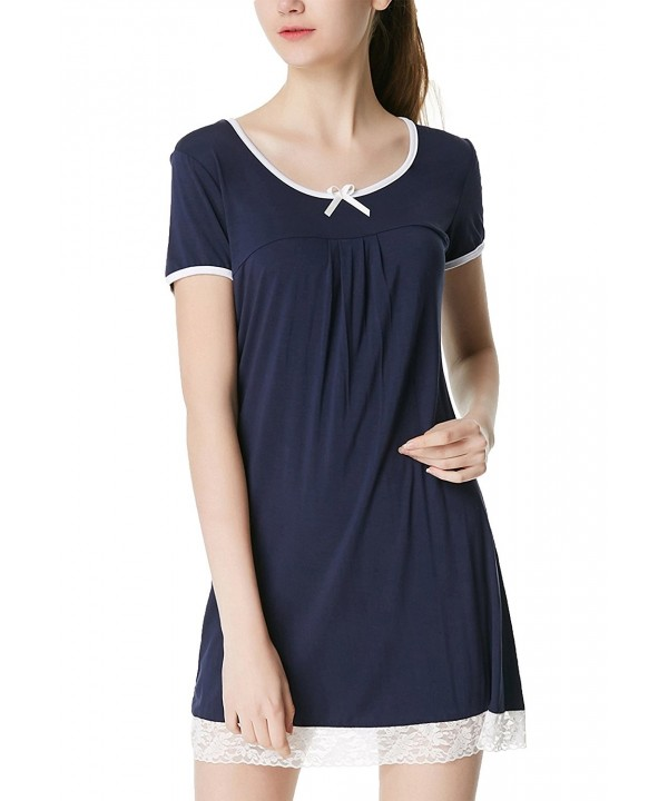 Aviier Nightgown Pajamas Scoopneck Sleepwear