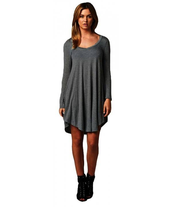 Womens Casual Feminine Sleeve Charcoal