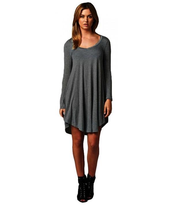 Womens Casual Feminine Sleeve Charcoal