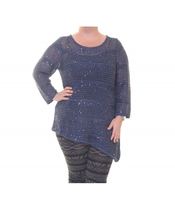 INC Womens Sequined Pullover Sweater