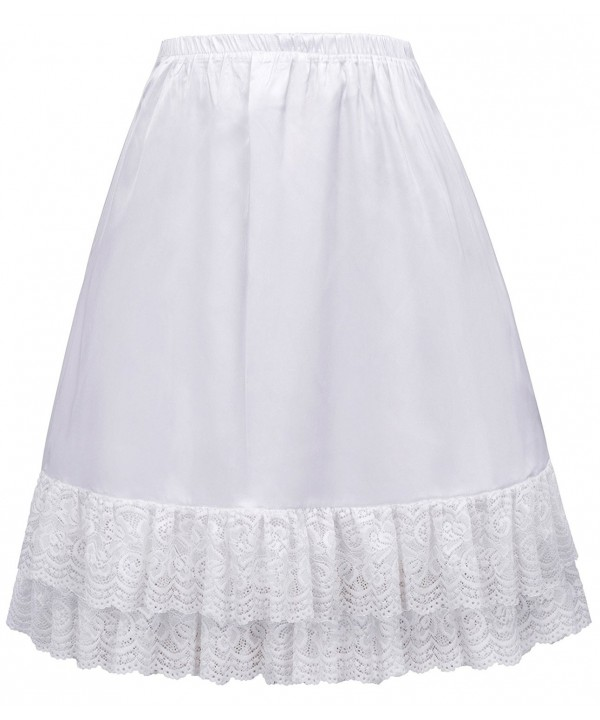 Ladies Dress Skirt Extender White