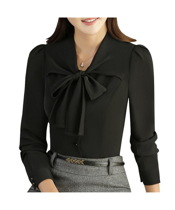 JHVYF Womens Chiffon Sleeve Bow Tie