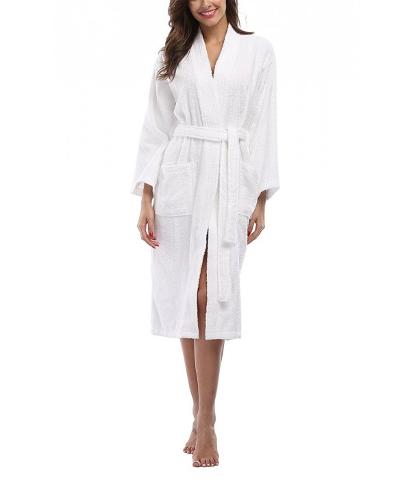 FADSHOW Womens Lightweight Cotton Bathrobe