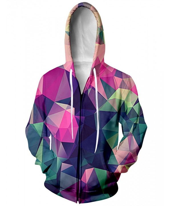 RAISEVERN Rainbow Geometric Baseball Sweatshirt