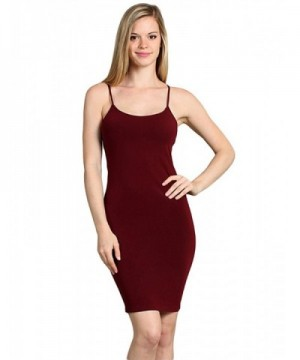 Long Seamless Camisole Tunic Burgundy