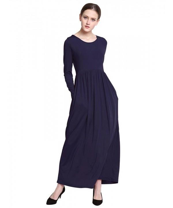 KOERIM Stretch Dresses Fashion Pockets