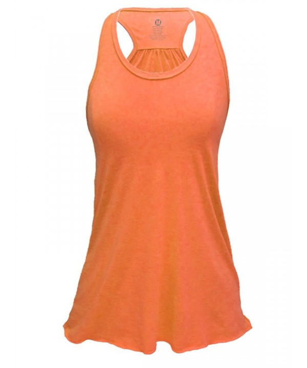 Flowy Triblend Racerback Tank Orange