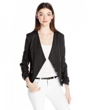 XOXO Womens Collar Sleeves Pockets