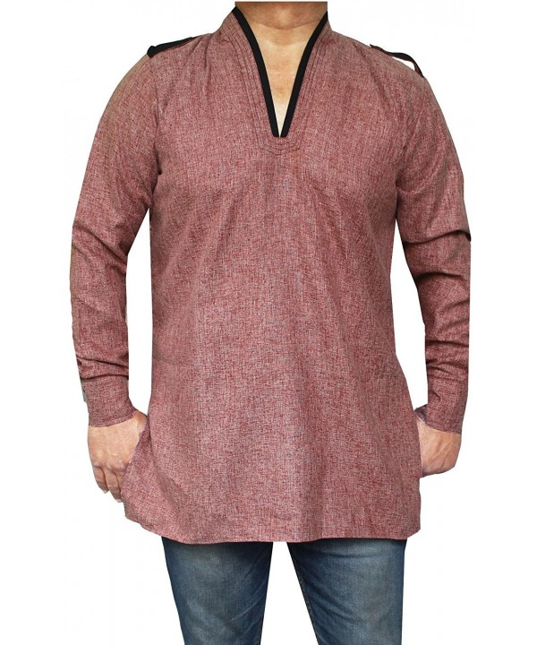 Maple Clothing Cotton Traditional Maroon