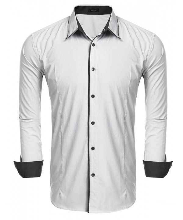 JINIDU Sleeve Oxford Business Casual