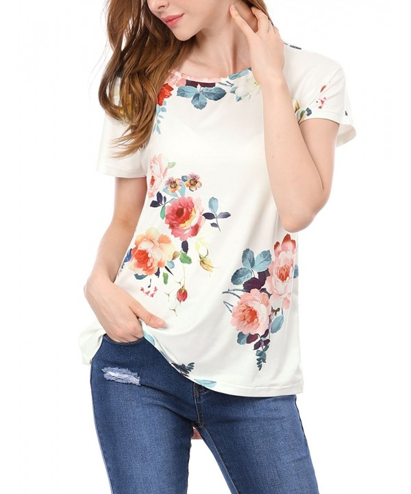 Allegra Womens Floral Short Sleeves