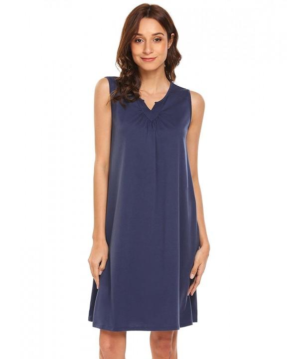 Yealsha Womens Sleeveless Nightgown Lounge
