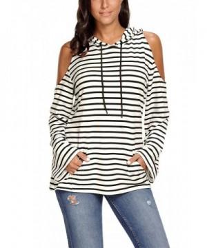 Black Striped Shoulder Sleeve Hoodie