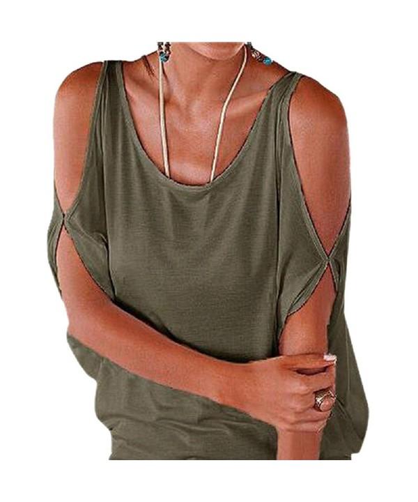 Shoulder Batwing Shirring T Shirt Blouse