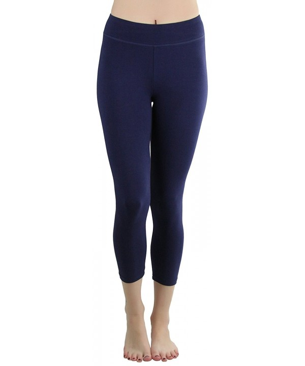 ToBeInStyle Womens Cotton Spandex Capri Leggings