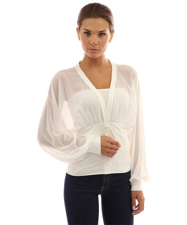 PattyBoutik Womens Chiffon Sleeve Pullover