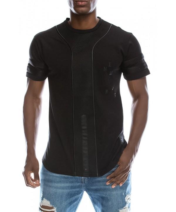 UPSCALE Baseball Jersey T Shirt Black